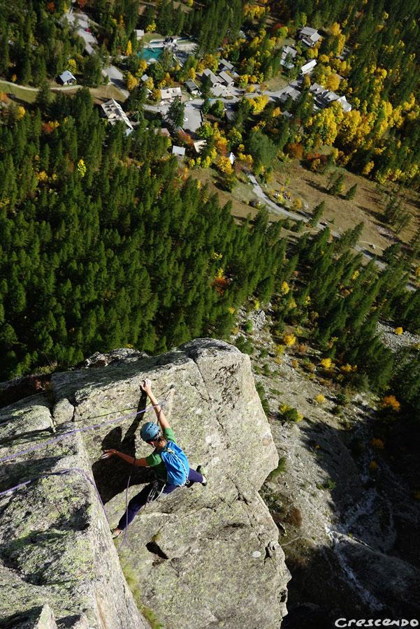 escalade Ailefroide, grimper en grande voie